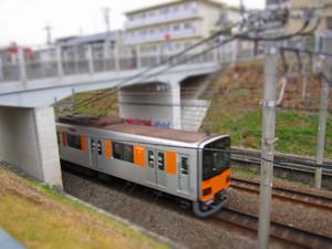 ジオラマ風写真:電車